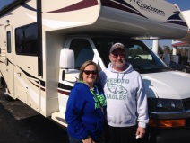 Dorothy and Ken with their new Coachmen Freelander, 2/10/15