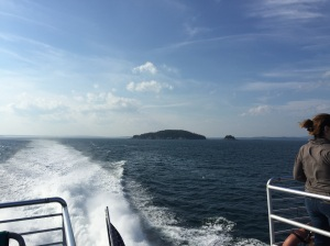 Looking back when we headed out - destination 23 miles from Bar Harbor